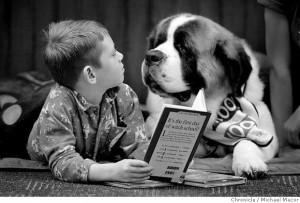 reading-with-a-dog